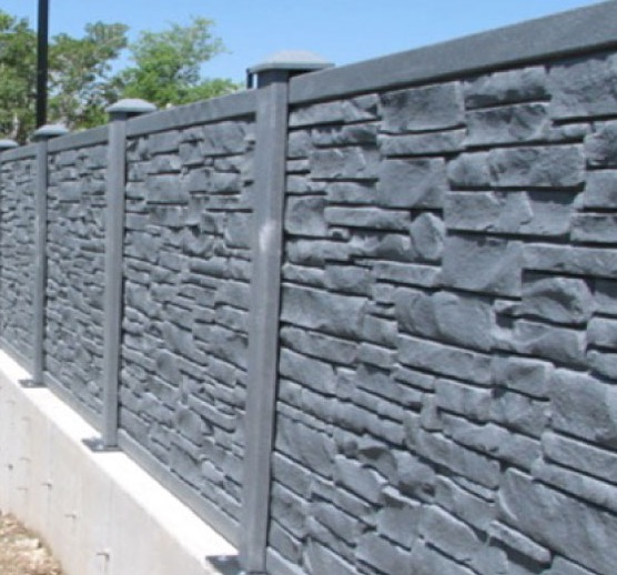 Rockwall fence
